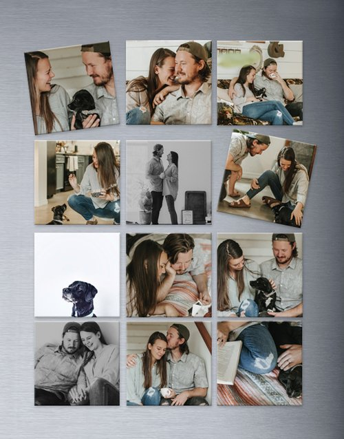 Personalised Photo Magnets Set Of Twelve
