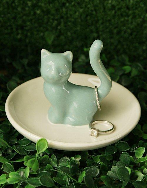 Cat Jewellery Ceramic Holder