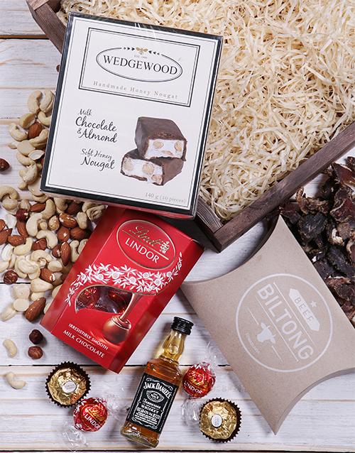 Jack Daniels and Nougat Square Festive Crate