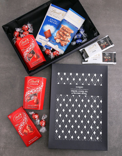 personalised Personalised Inspired Actions Lindt Box