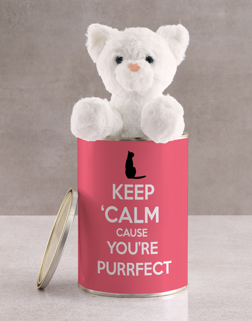 personalised Personalised Cat Teddy And Chocolate In Tin