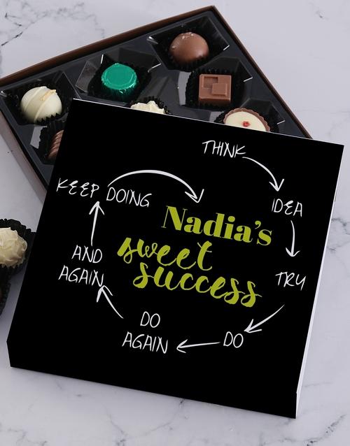 personalised Personalised Sweet Success Choc Tray