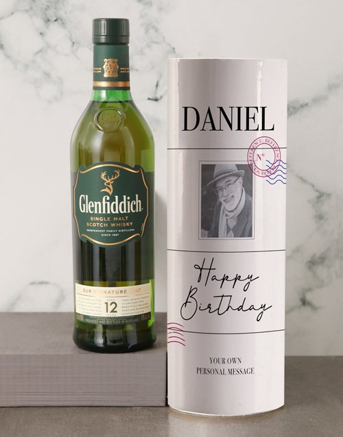 fine-alcohol Personalised Glenfiddich Vintage Photo Tube