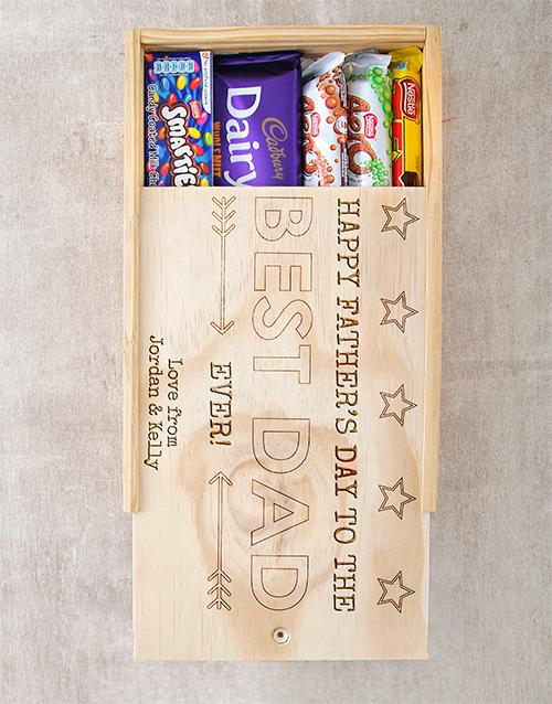 personalised Personalised Best Dad Choc Crate