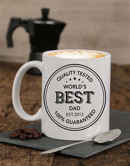 personalised Personalised Quality Tested Dad Mug