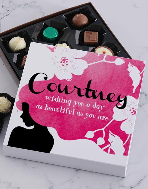 personalised Personalised Beautiful Women Chocolate Tray