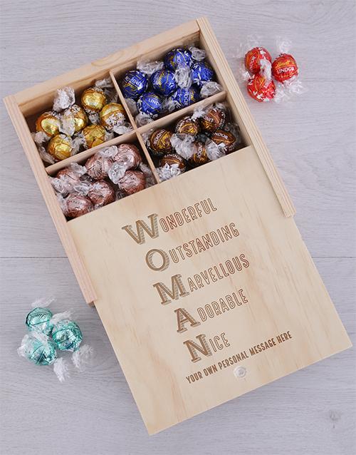 personalised Personalised Woman Chocolate Treasure Box