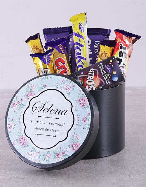 personalised Personalised Rose Chocolate Hat Box