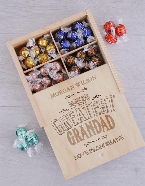 personalised Personalised Greatest Grandad Lindt Tray
