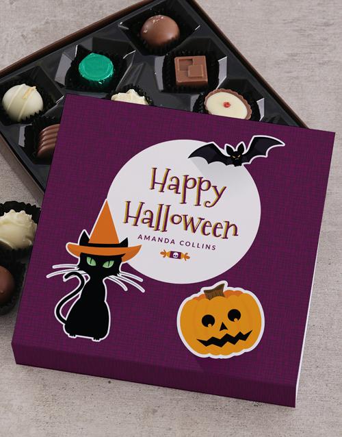 personalised Personalised Happy Halloween Choc Tray