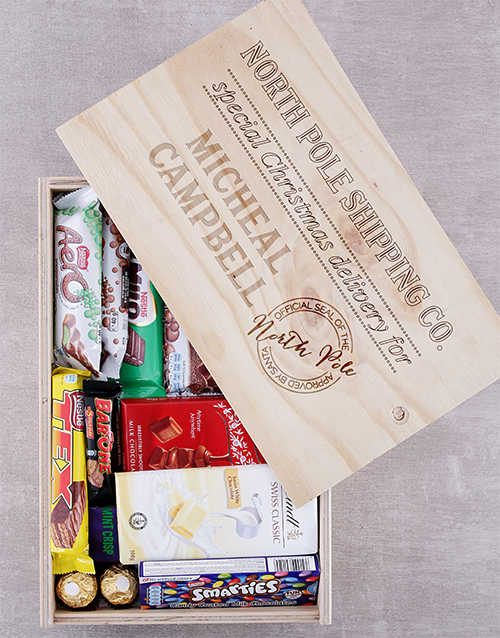 personalised Personalised Christmas Delivery Chocolate Crate