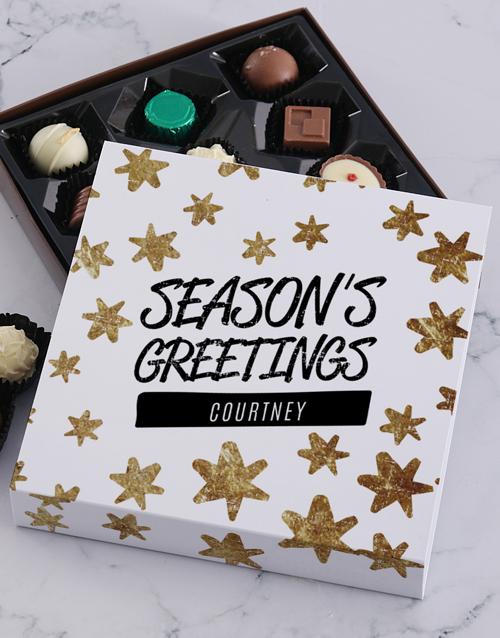 personalised Personalised Seasons Greetings Choc Tray