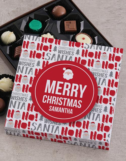 personalised Personalised Ho Ho Christmas Choc Tray