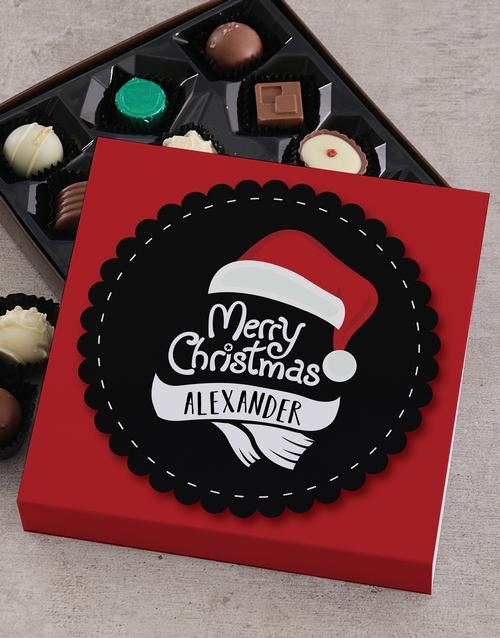 personalised Personalised Christmas Santa Choc Tray