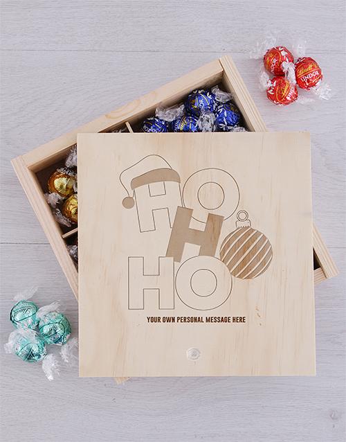 personalised Personalised Ho Ho Lindt Crate