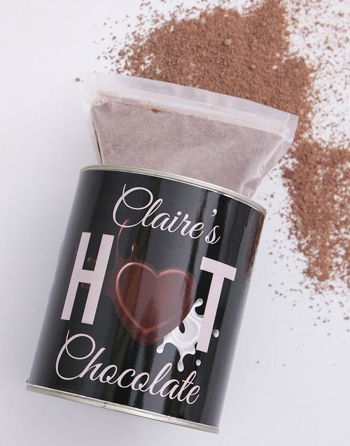 personalised Personalised Hot Chocolate Tin
