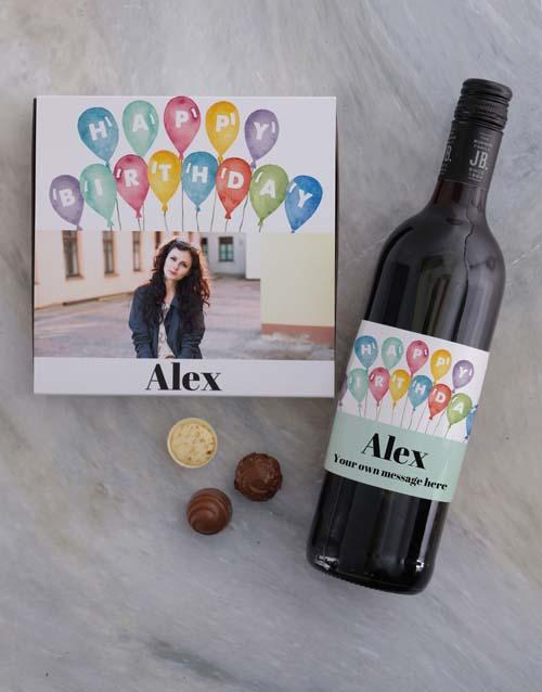 personalised Personalised Photo Birthday Chocolate Tray