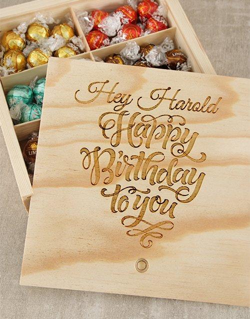 personalised Personalised Birthday Choc Treasure Box