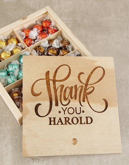 personalised Personalised Thank You Choc Treasure Box