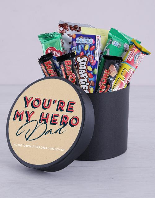 personalised Personalised My Hero Chocolate Hat Box
