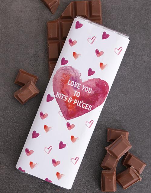 personalised Personalised Love Chocolate Slab