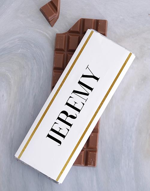 personalised Personalised Geo Chocolate Slab