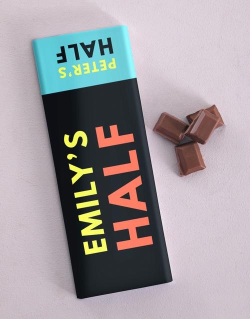 personalised Personalised Half Chocolate Slab