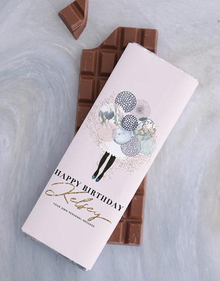 personalised Personalised Birthday Chocolate Slab