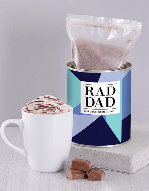 personalised Personalised Rad Dad Hot Chocolate Tin