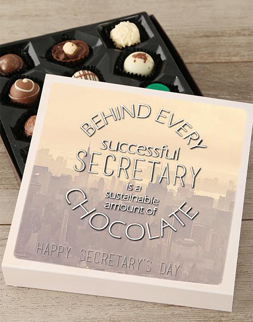personalised Personalised Secretarys Day Choc Tray