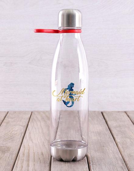 activewear Personalised Mermaid Water Bottle