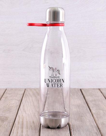 activewear Personalised Unicorn Water Bottle
