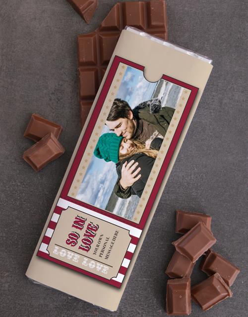 personalised Personalised Photo Ticket 300g Chocolate Slab