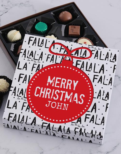 personalised Personalised Christmas Falala Tray