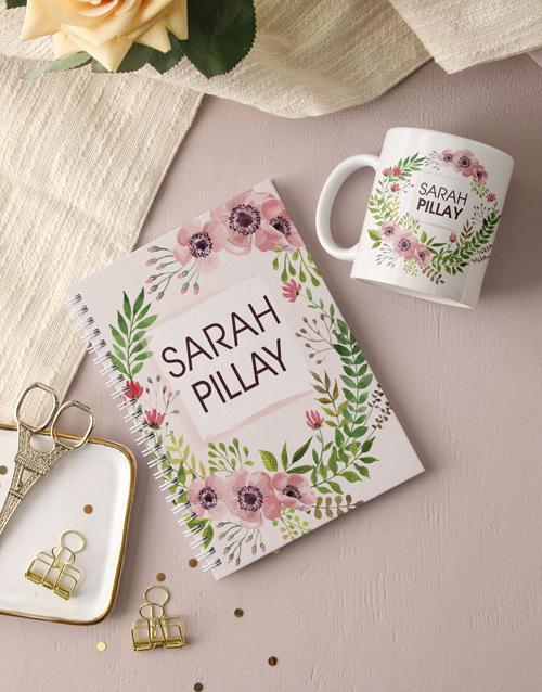 personalised Personalised Floral Wonder Notebook
