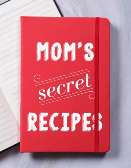personalised Personalised Secret Recipes A5 Hardcover Notebook