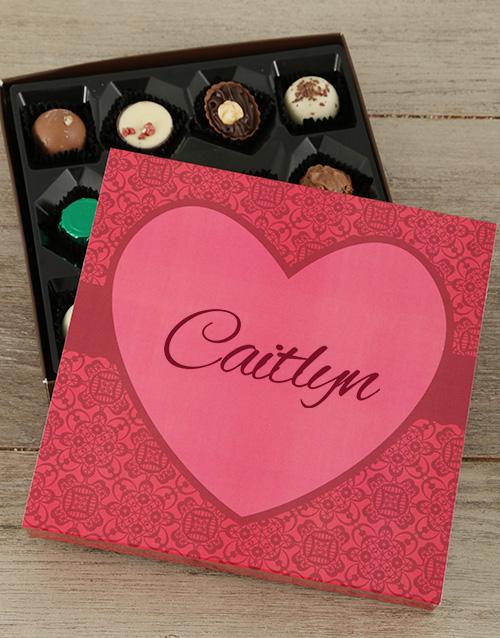 personalised Personalised Sweet Love Choc Tray
