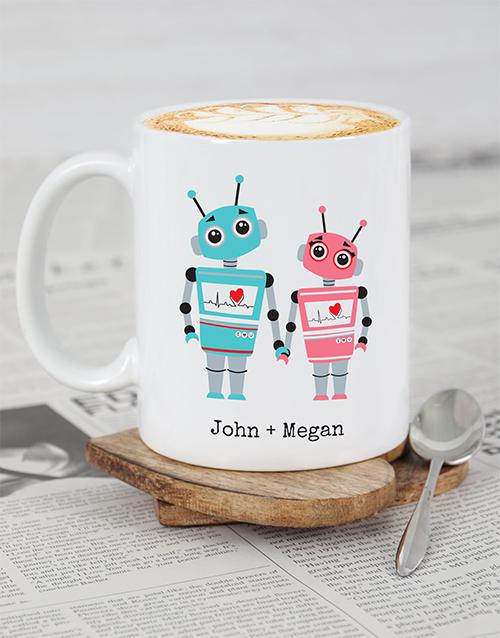 personalised Personalised Robot Love Mug