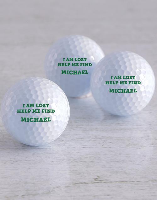 activewear Personalised Lost Golf Balls