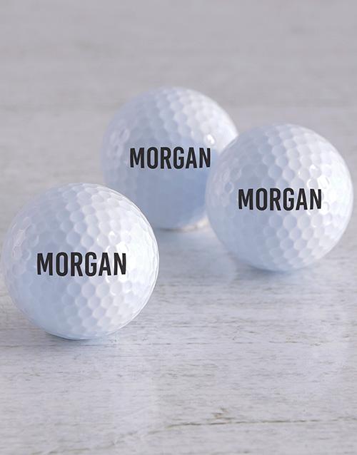 activewear Personalised Name Golf Balls