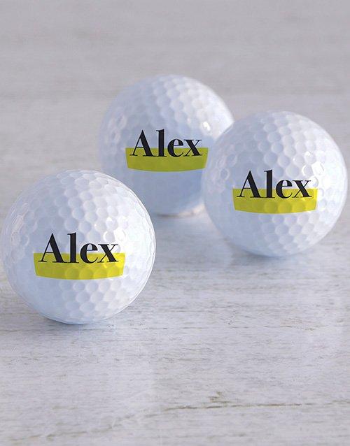 activewear Personalised Highlight Golf Balls