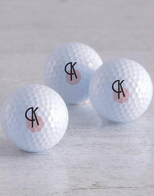 activewear Personalised Deco Initial Golf Balls