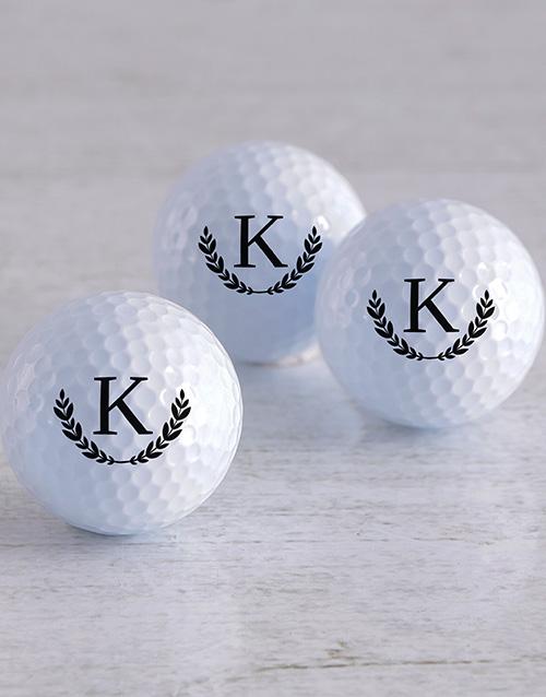 activewear Personalised Wreath Golf Balls