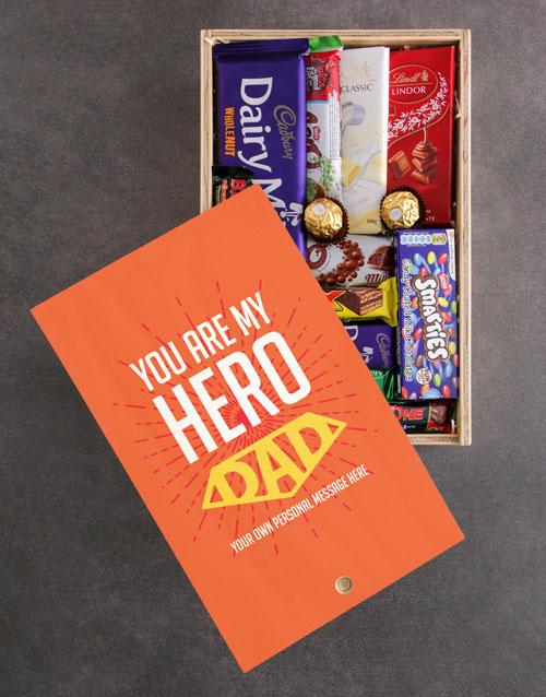 personalised Personalised My Hero Chocolate Crate