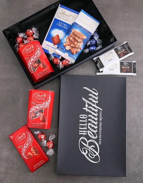 personalised Personalised Hello Beautiful Lindt Box