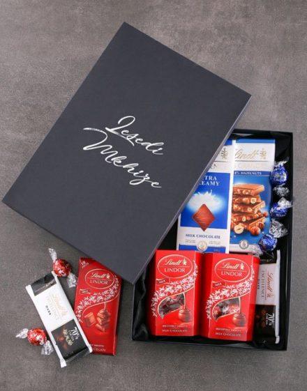personalised Personalised Black Lindt Box
