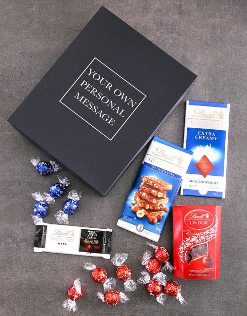 personalised Personalised Lindt Black Box