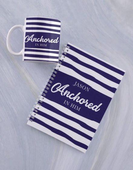personalised Personalised Anchored Mug And Notebook