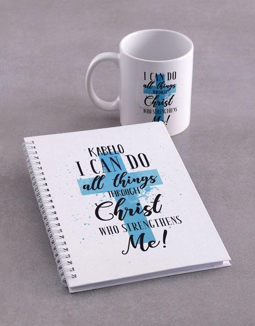 personalised Personalised All Things Mug Notebook