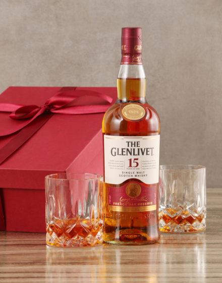 fine-alcohol Glenlivet Fifteen Year Scotch Whisky Set